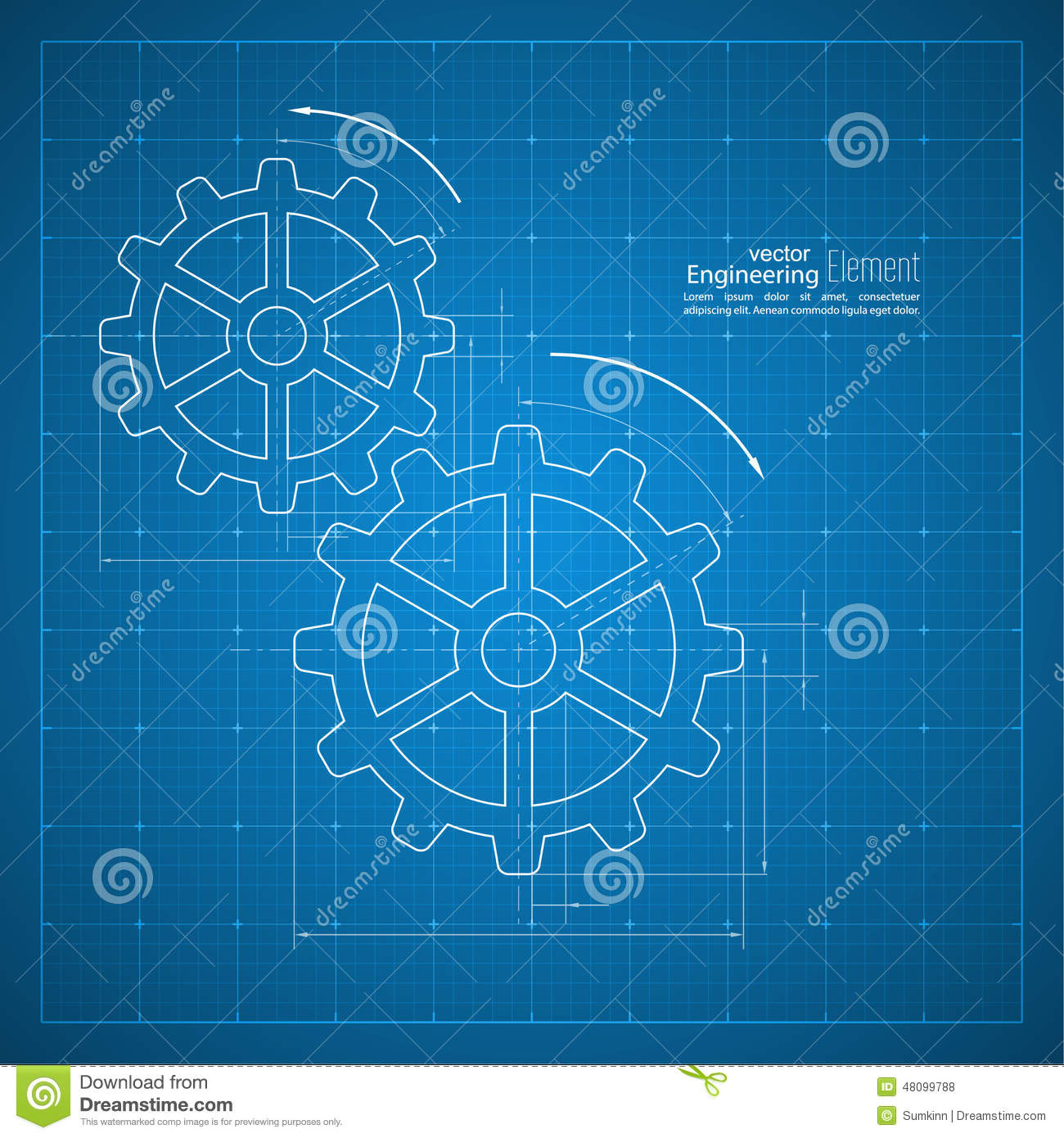 Gears symbol on the drawing paper stock vector illustration of gears symbol on the drawing paper malvernweather Images