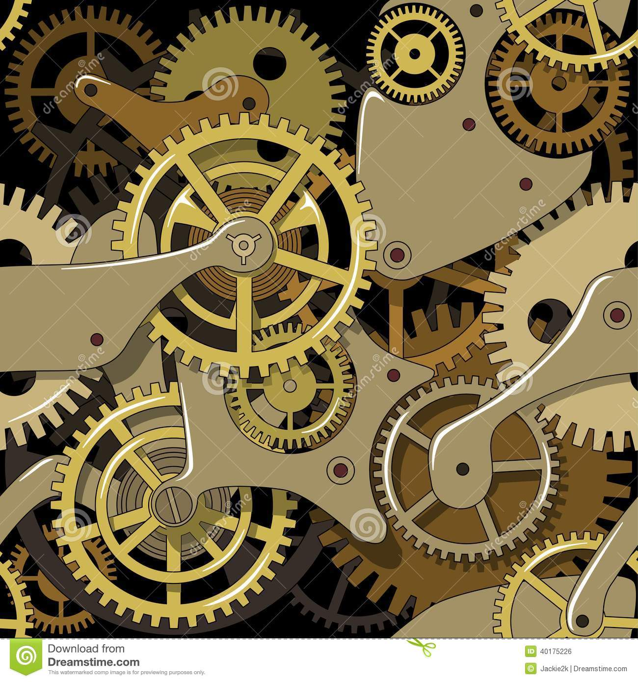 Yellow Grunge Texture Gears Texture In The S...