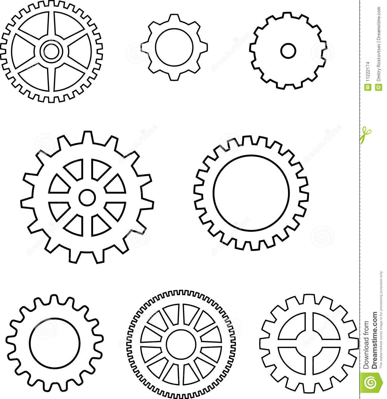 Gears in vector stock vector. Illustration of illustrated ...