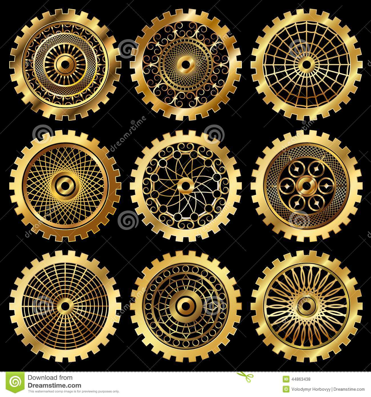 The Gears Stock Vector - Image: 44863438