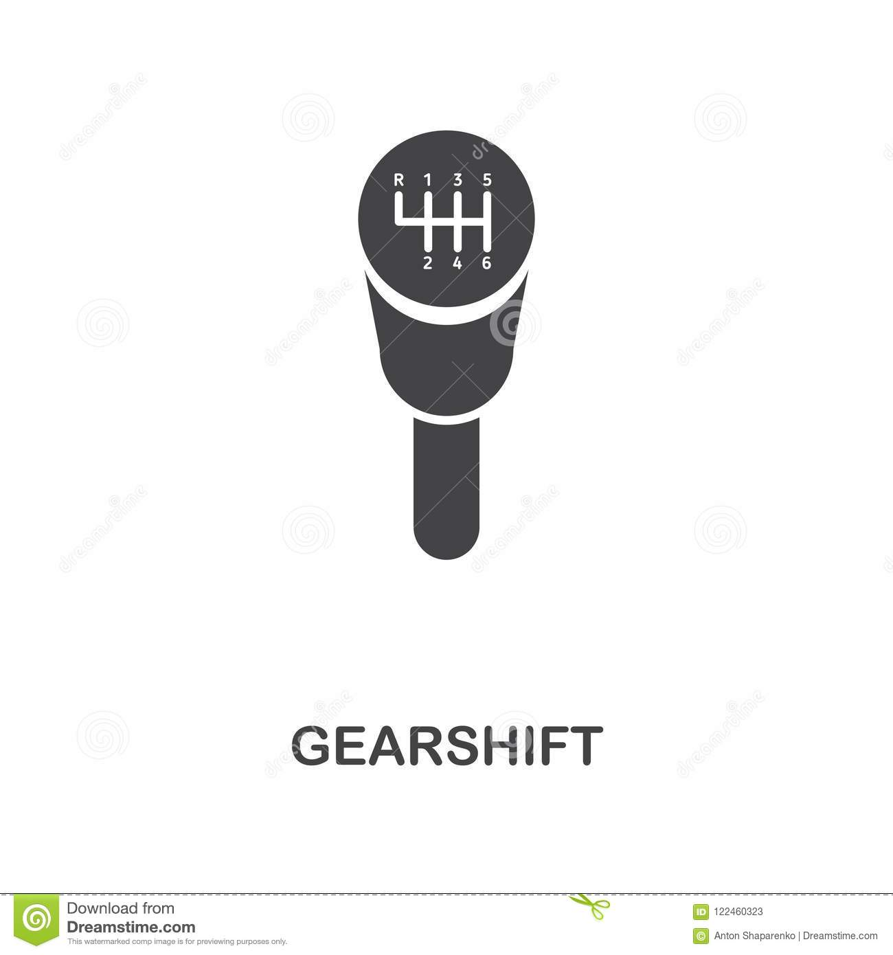 Gearshift Creative Icon  Simple Element Illustration  Gearshift