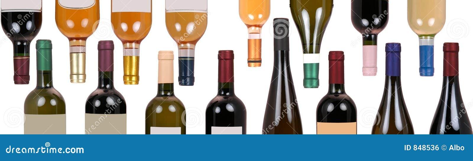 Geassorteerde flessen wijn