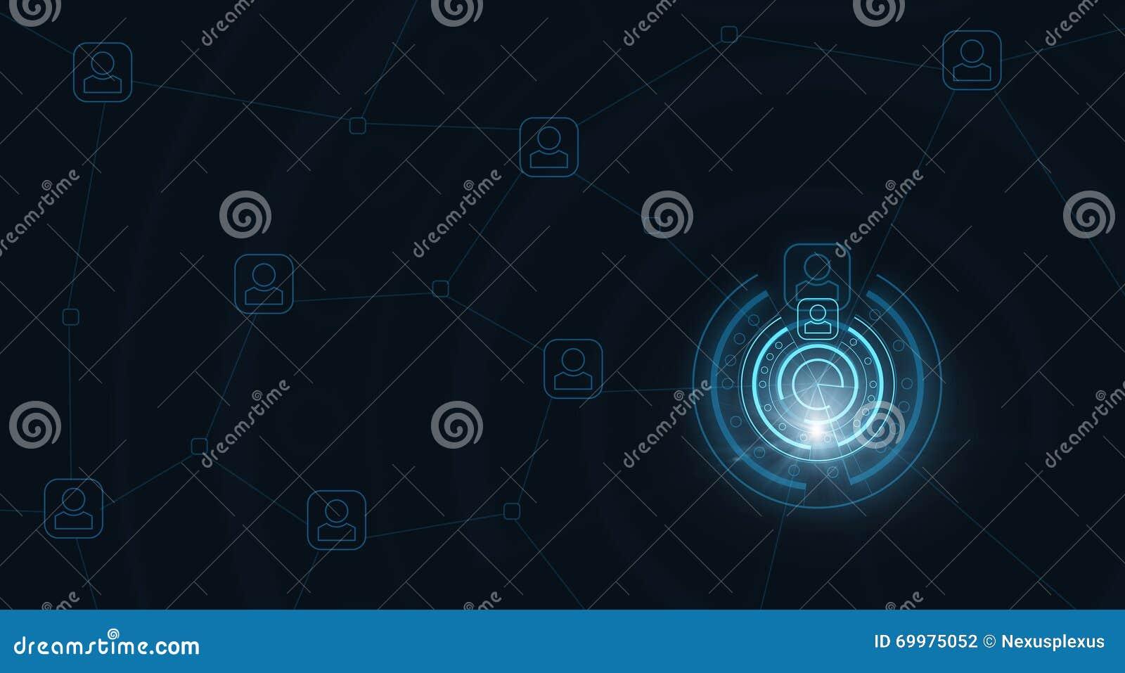 Geavanceerd technische blauwe achtergrond