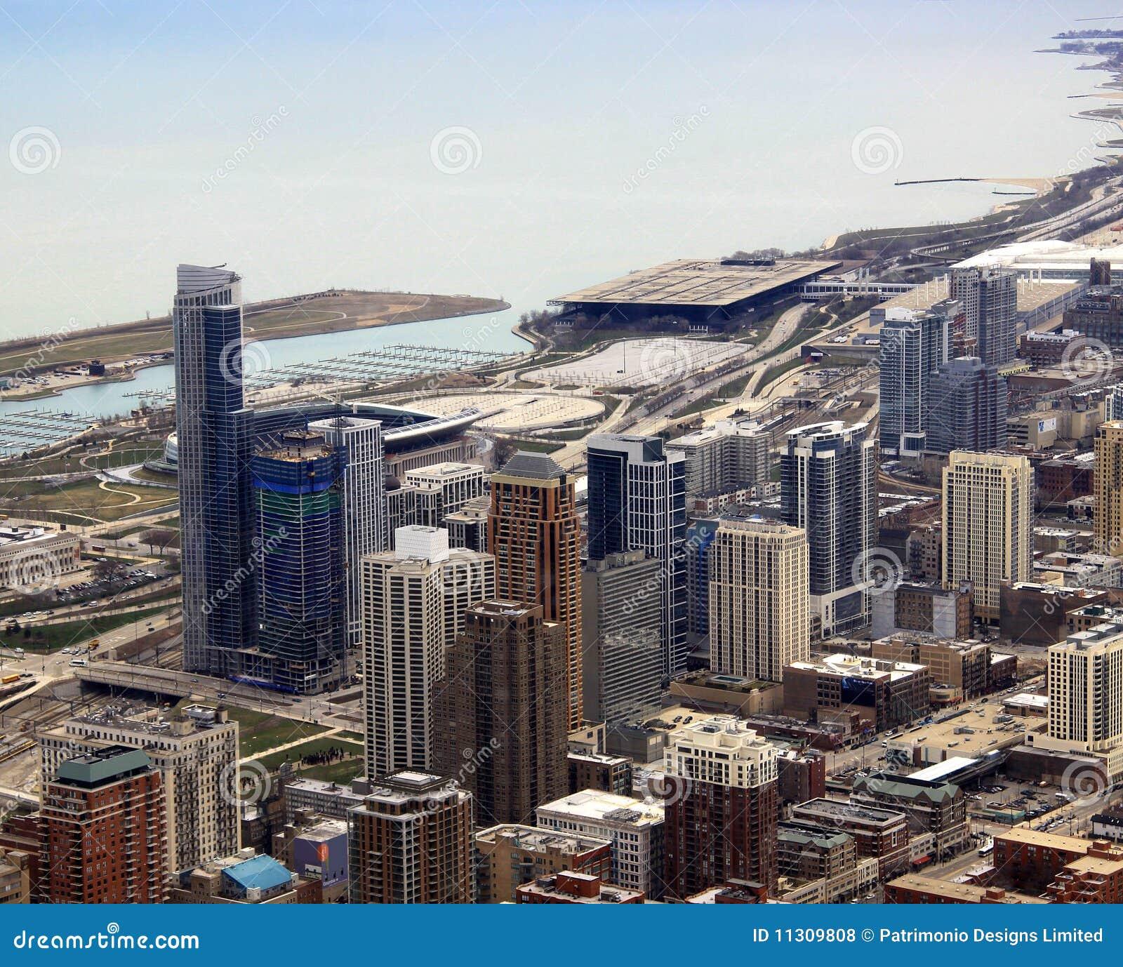 Gebäude der Chicago-Stadt