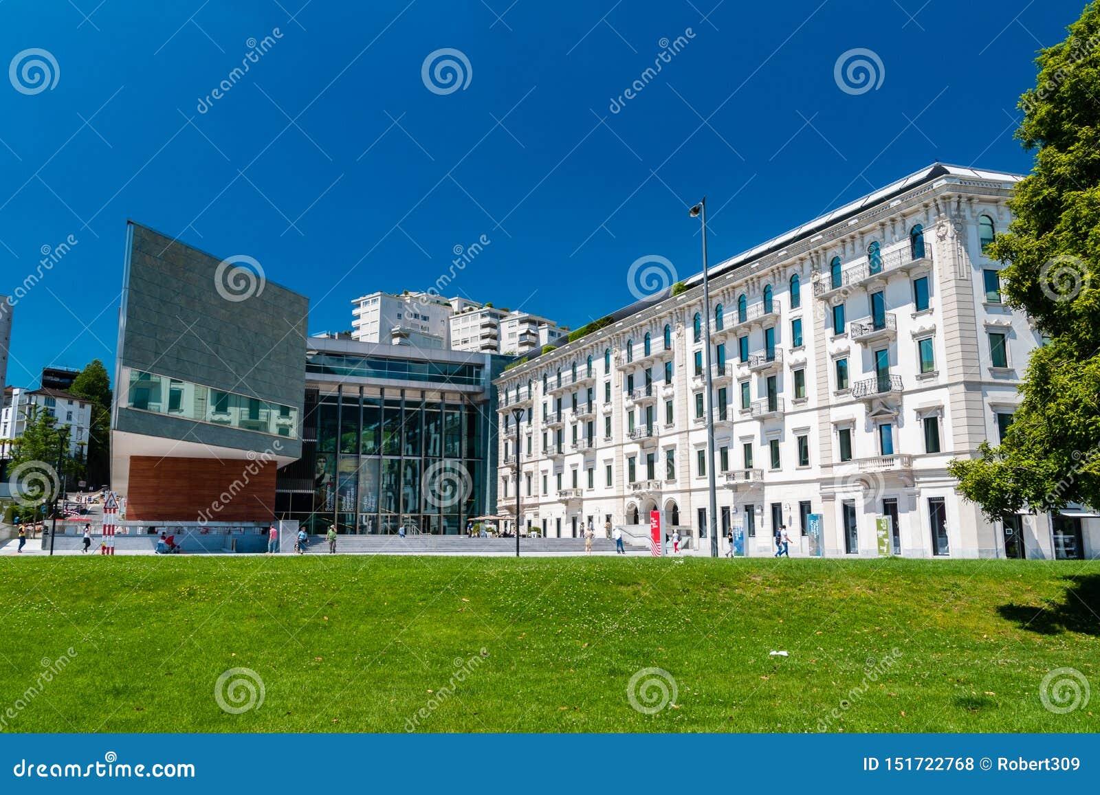 Gebäude des GUMMILACKS Lugano Arte e Cultura Kulturelle Mitte eingeweiht den bildende Kunst, Musik und den Künsten