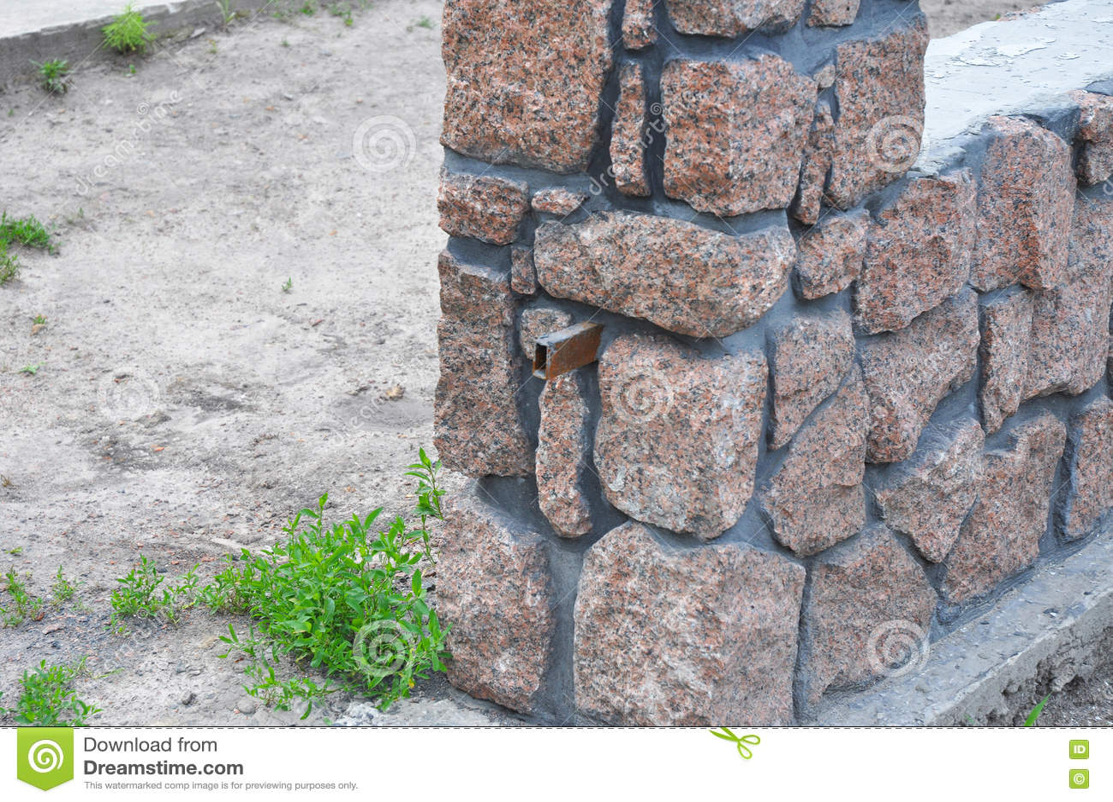 Gebaude Granit Stein Zaun Stockbild Bild Von Outdoor 77082855