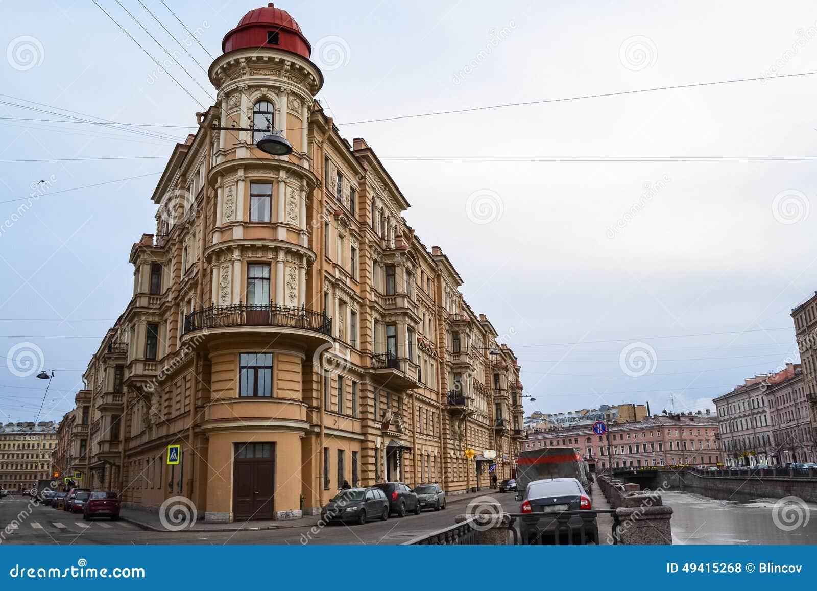 Download Gebäude in St Petersburg stockfoto. Bild von petersburg - 49415268