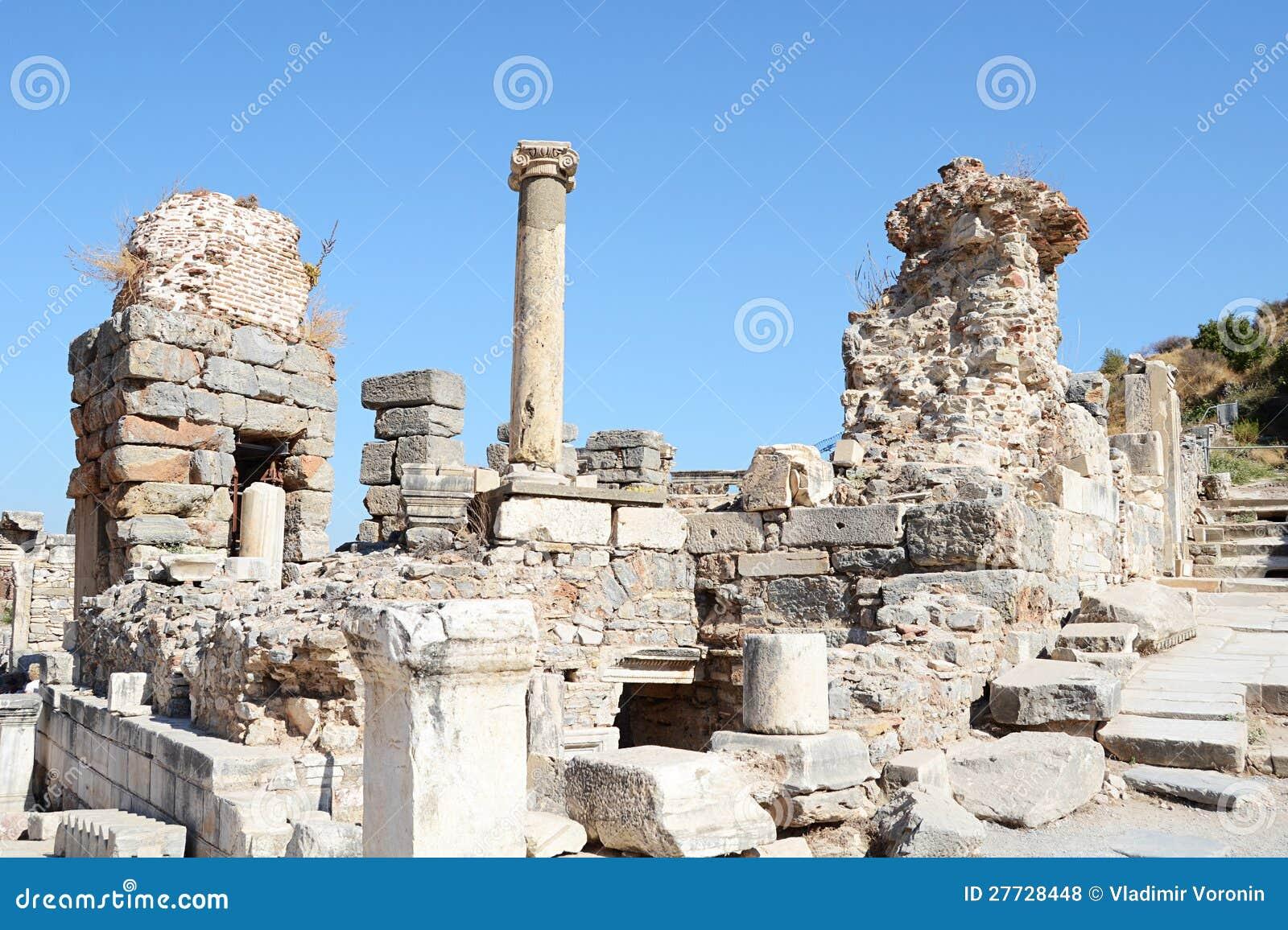 Gebäudedetail in Ephesus (Efes)