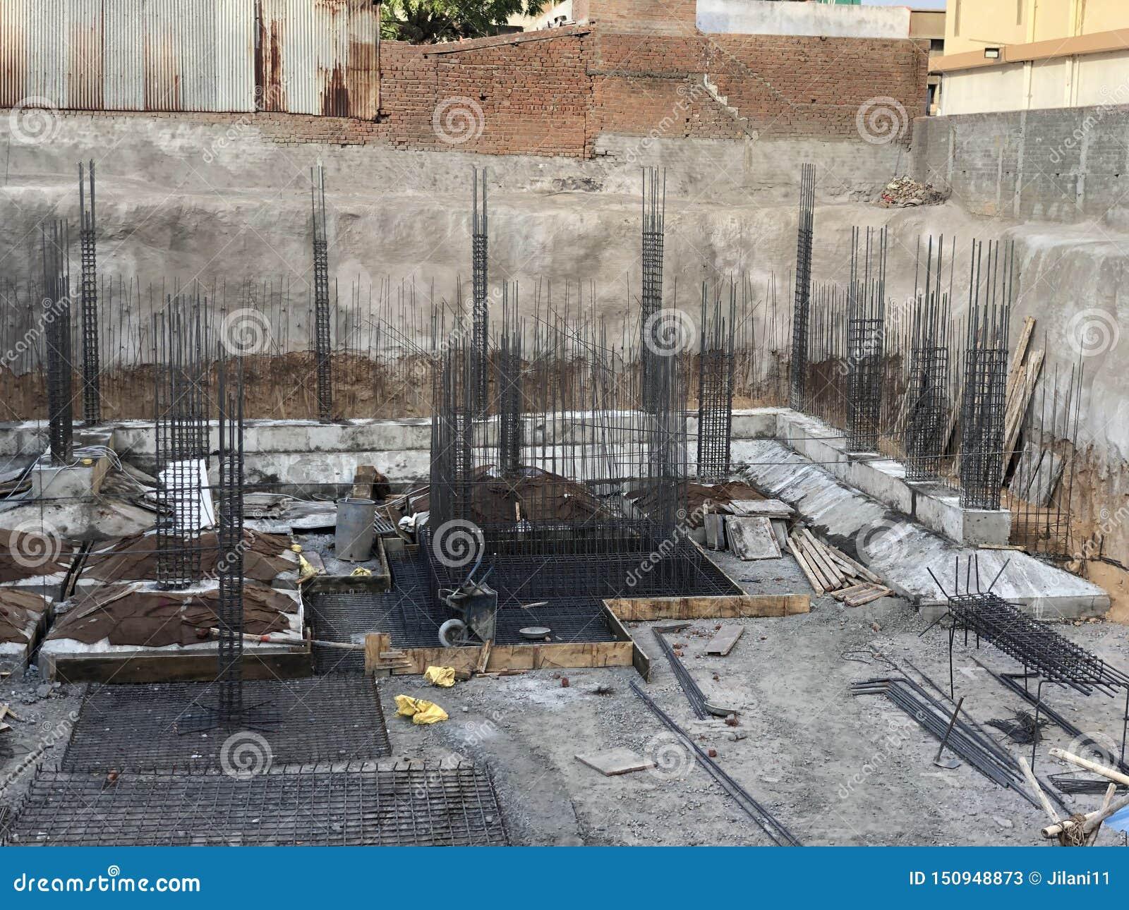 Gebäudestruktur Baustelle Unterseite des Geb?udes