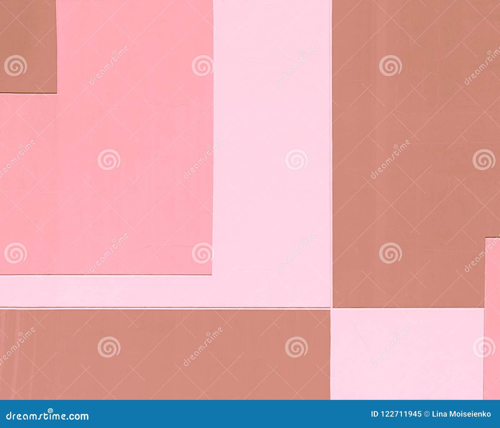Gebäudewand in den Pastellfarben, geometrischer abstrakter Hintergrund, rechteckige Form
