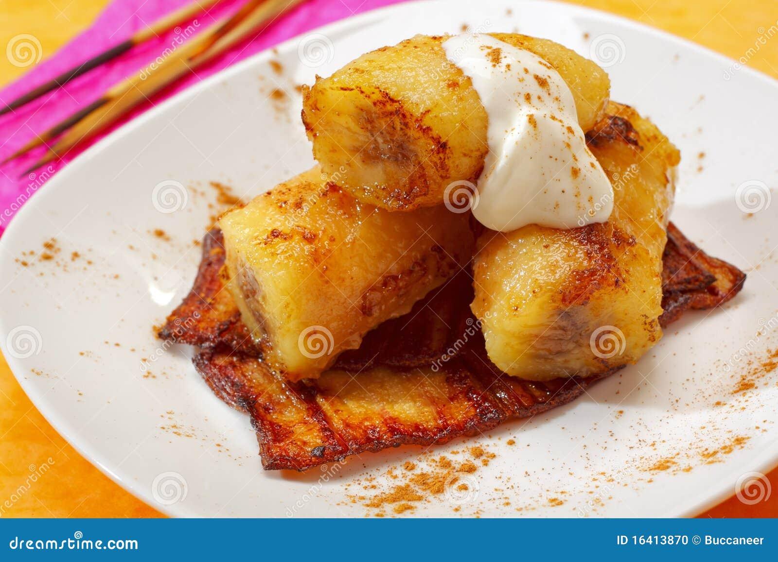 Gebackene karamellisierte Bananen