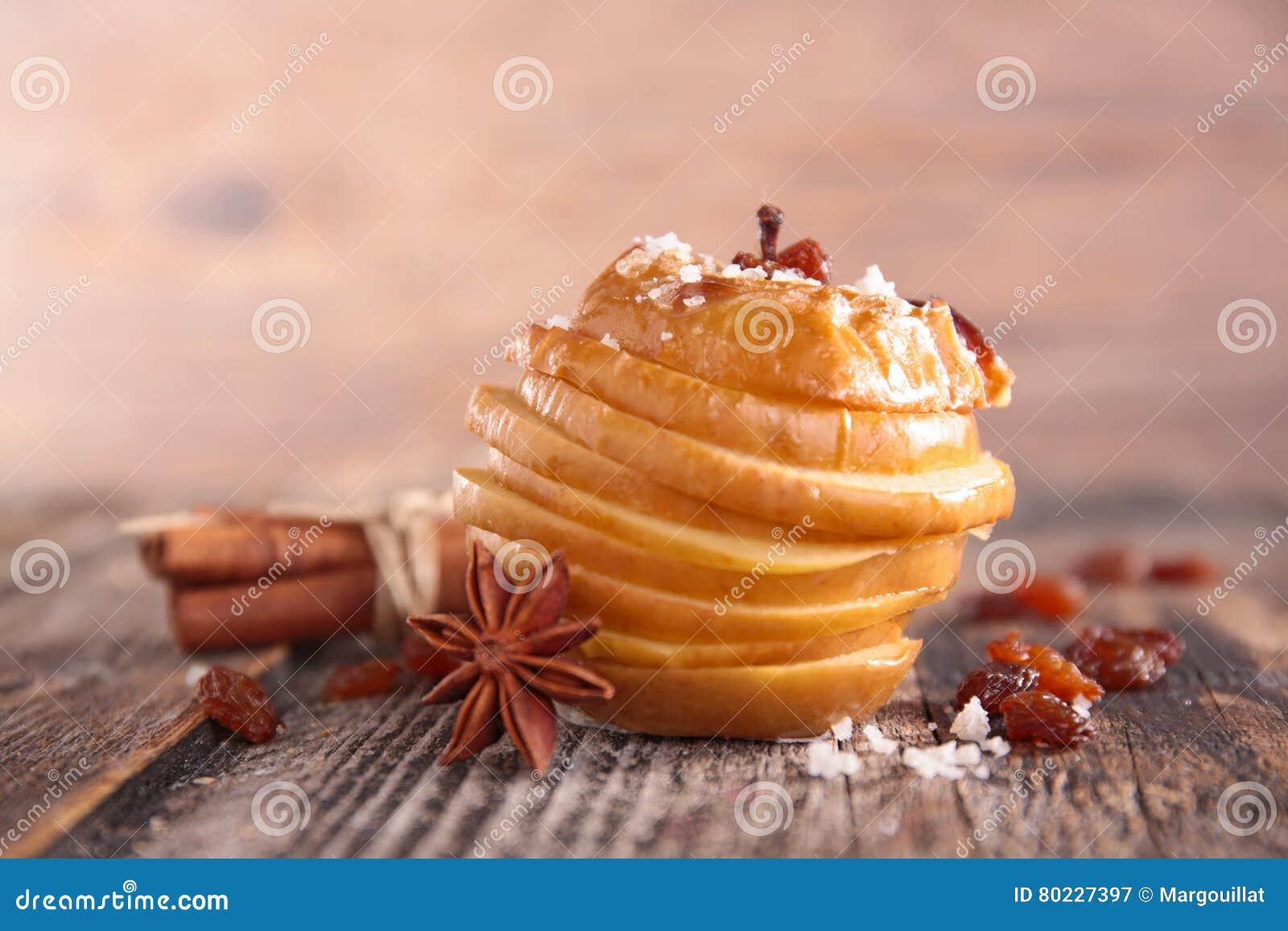 Gebakken appel met kruid