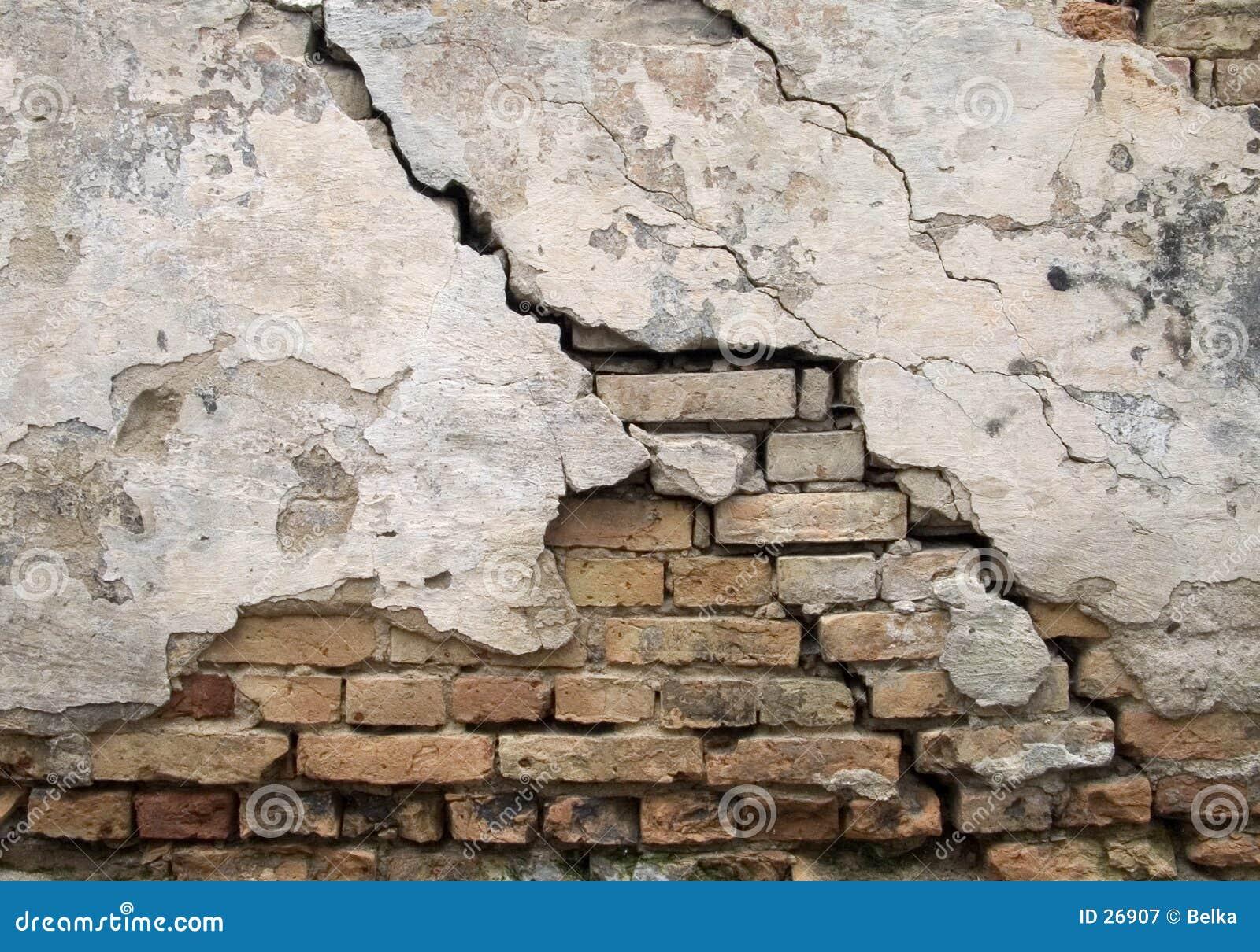 Download Gebarsten muur stock afbeelding. Afbeelding bestaande uit barst - 26907