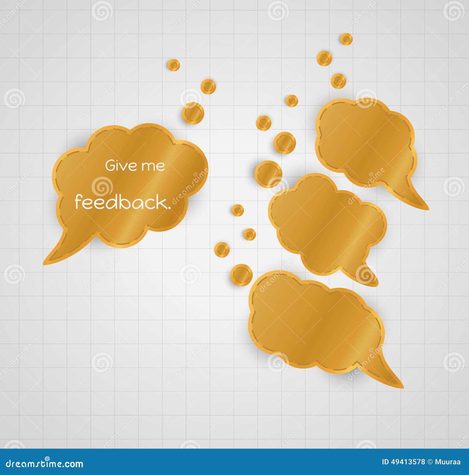 Download Geben Sie Mir Feedbackspracheblase Mit Leeren Blasen Stock Abbildung - Illustration von idee, übersicht: 49413578