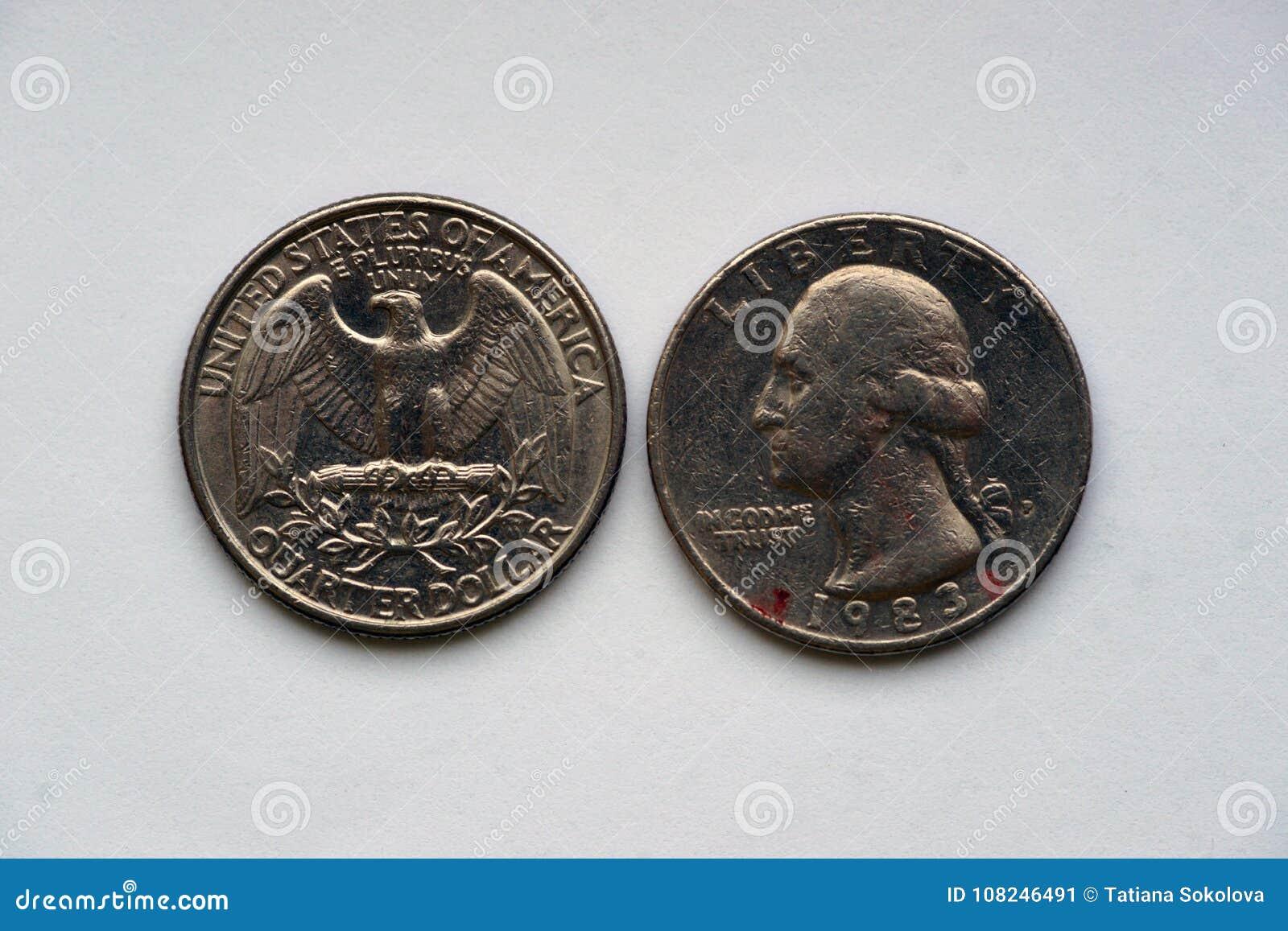 Geben Sie Viertel 25 Cents - 1/4 Dollar USA an
