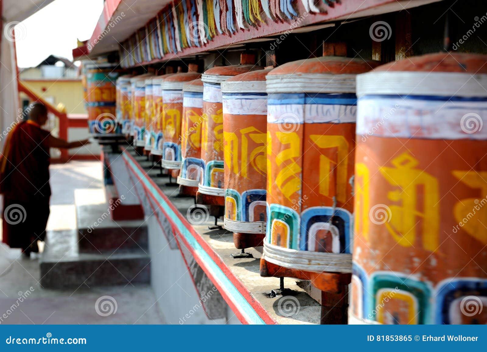 Gebet dreht herein Kloster, Darjeeling, Indien
