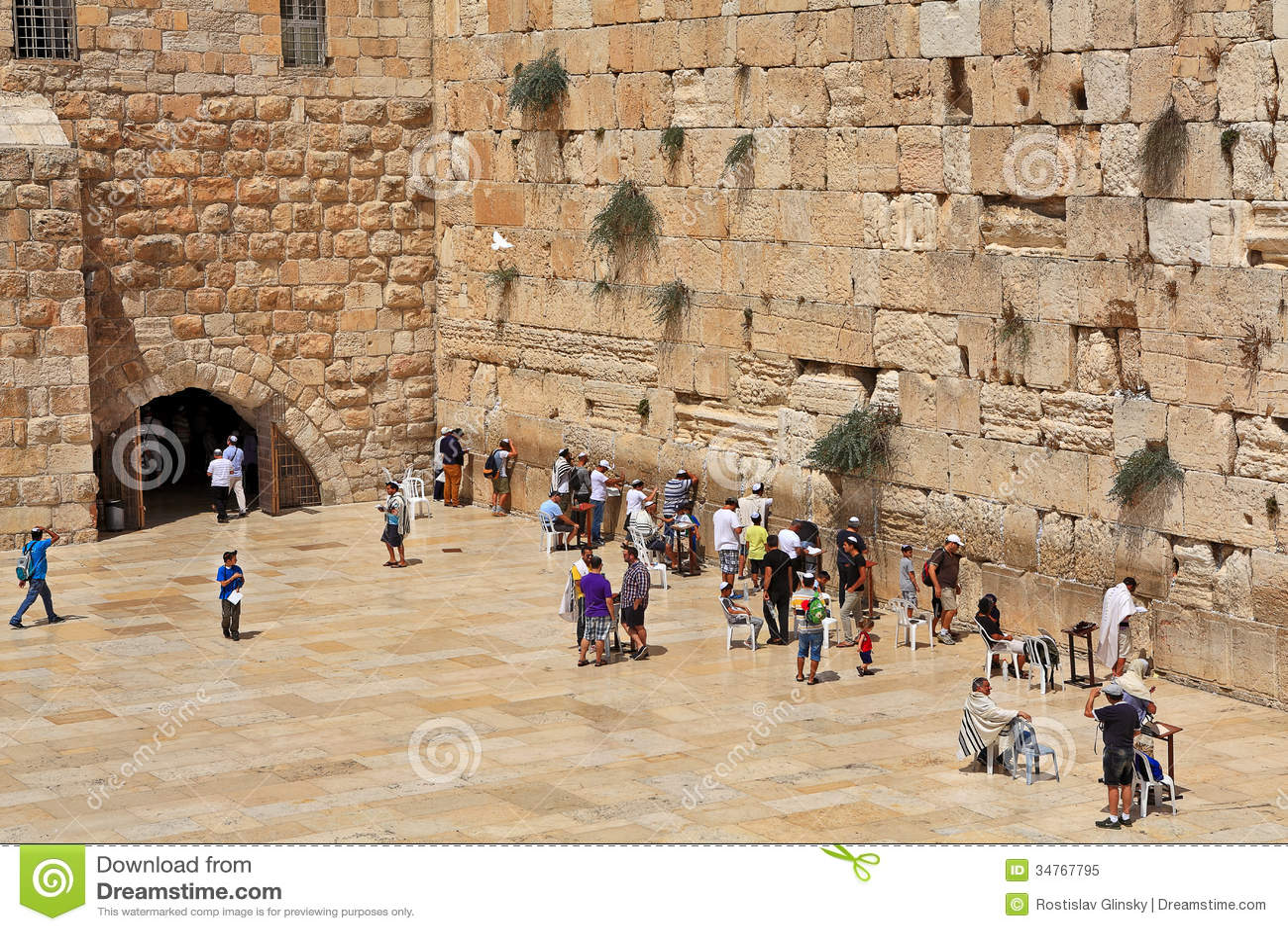 Gebete An Der Klagemauer In Jerusalem, Israel ...