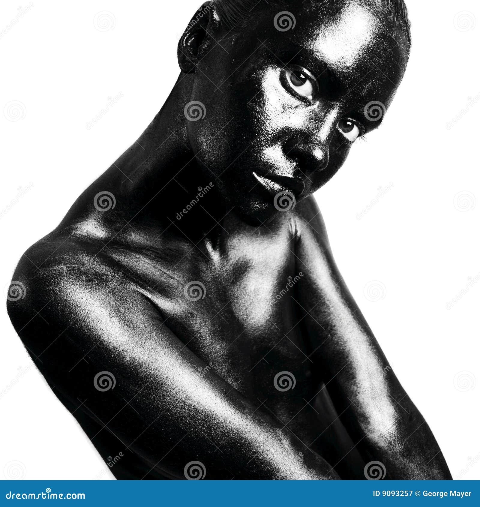 Gebildete schwarze Frau