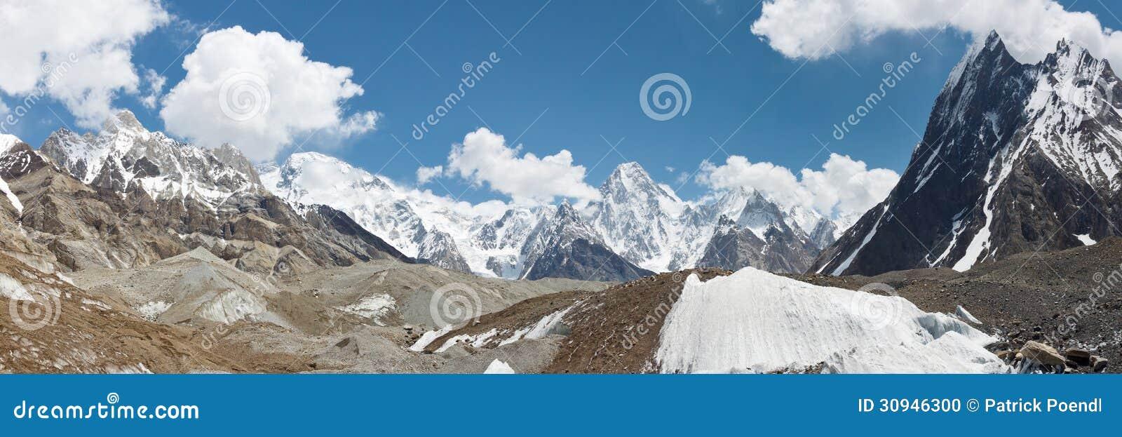 Gebirgs-und Gletscher-Panorama Karakorum