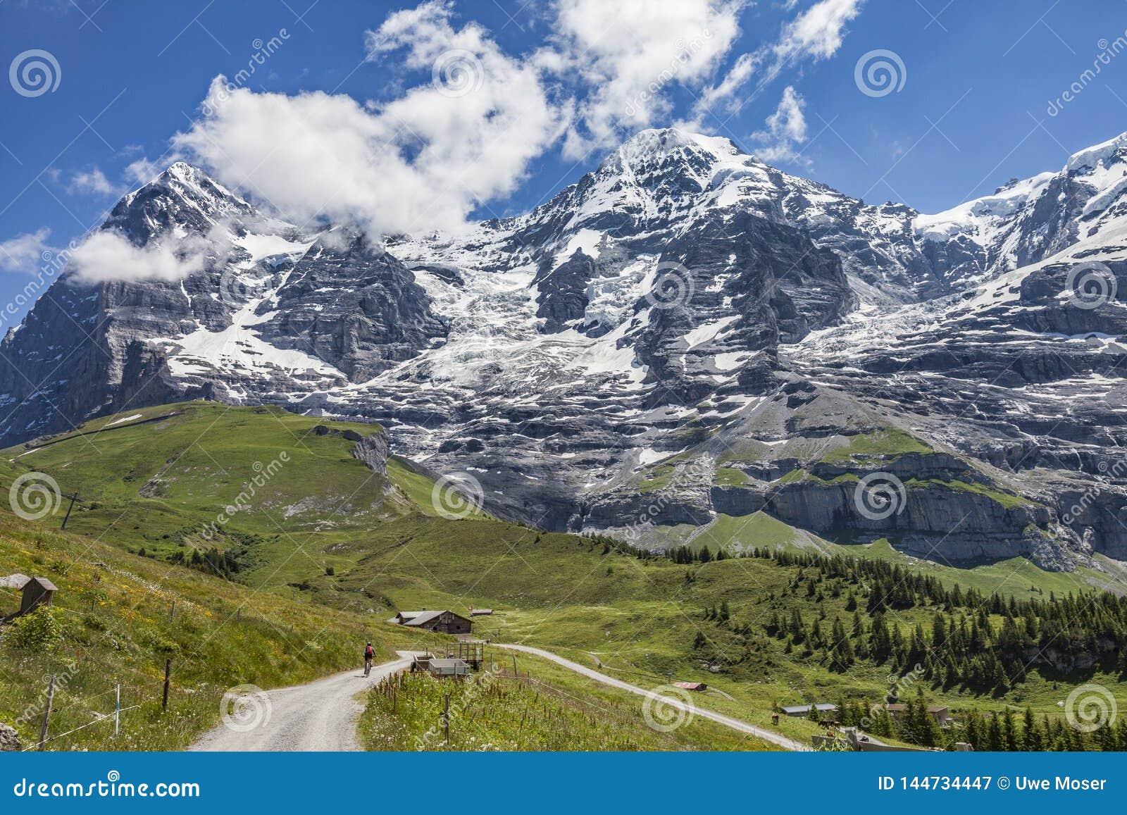 Gebirgsradfahren in Grindelwald, die Schweiz