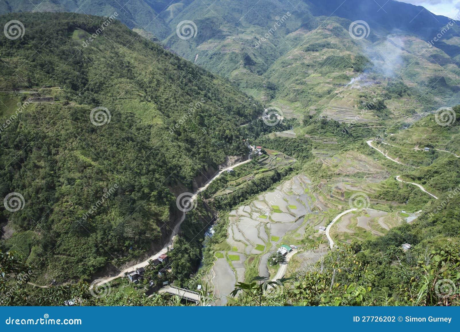 Gebirgsstraße banaue Luzon Philippinen