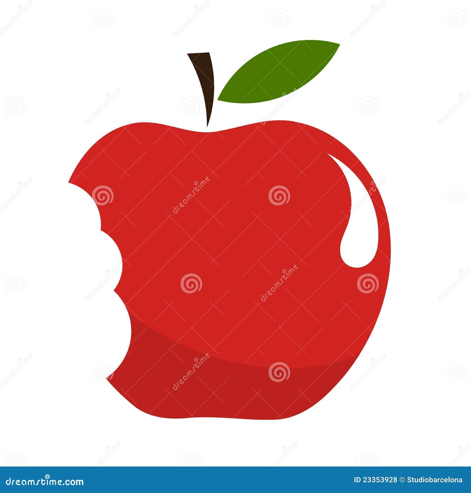 Gebissener Apfel
