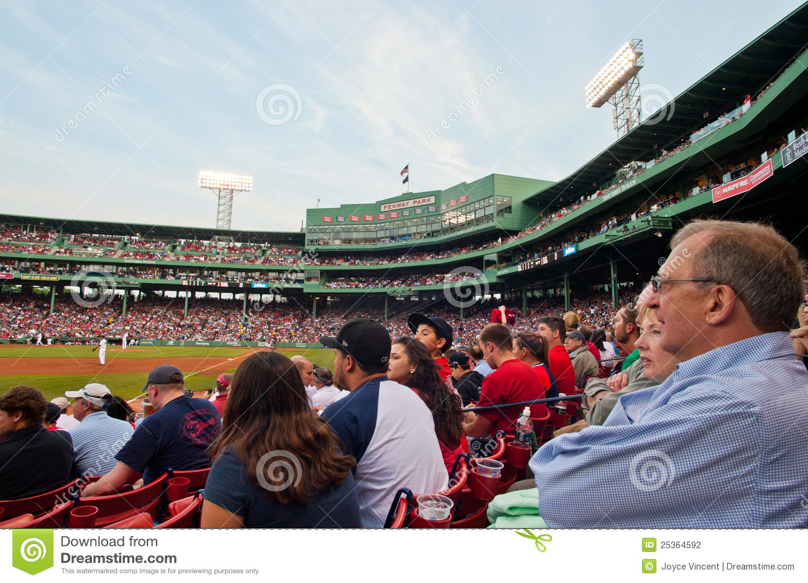 Gebläse überwachen ein Red- Soxspiel