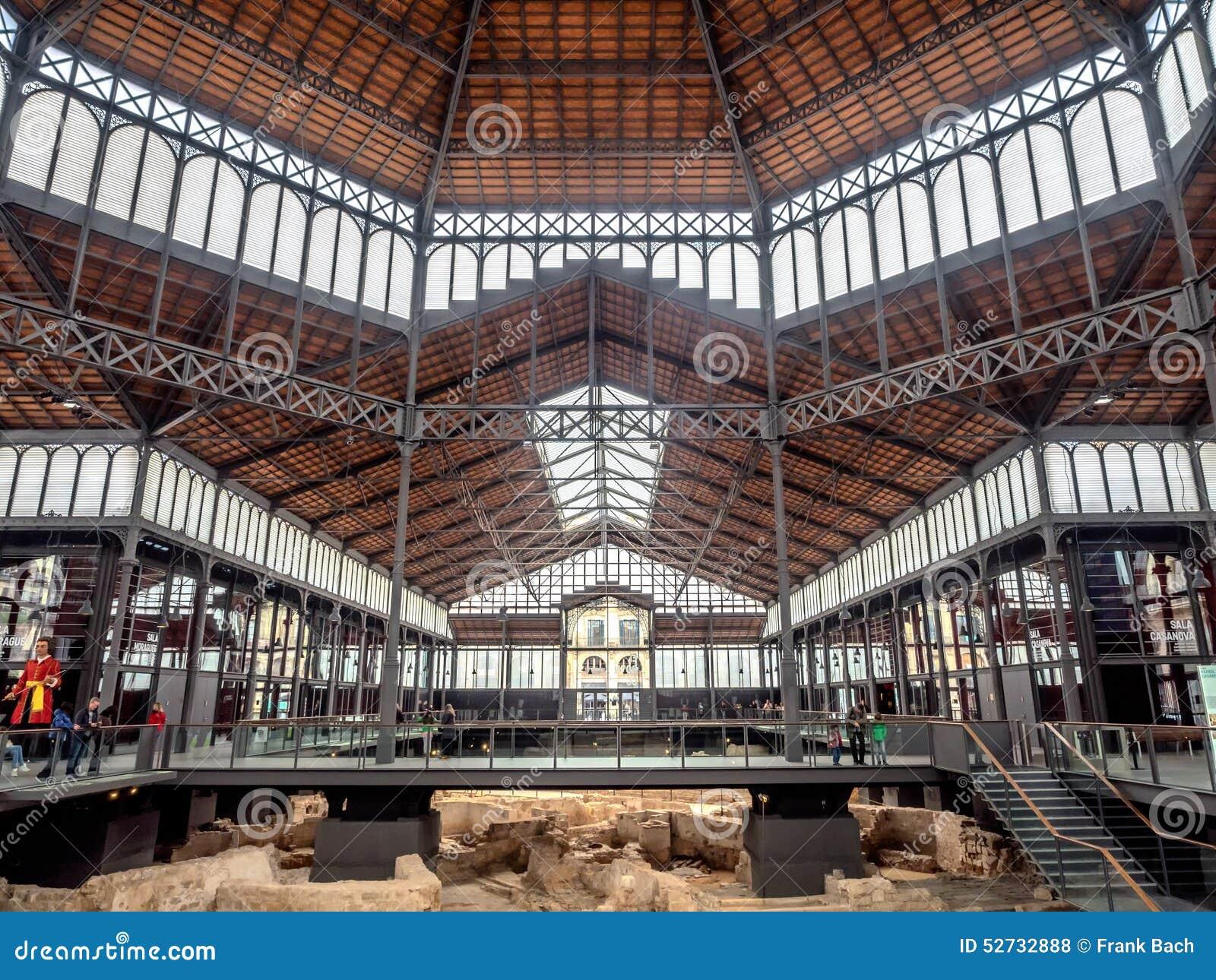 Geboren Marktbinnenland in de oude stad van Barcelona