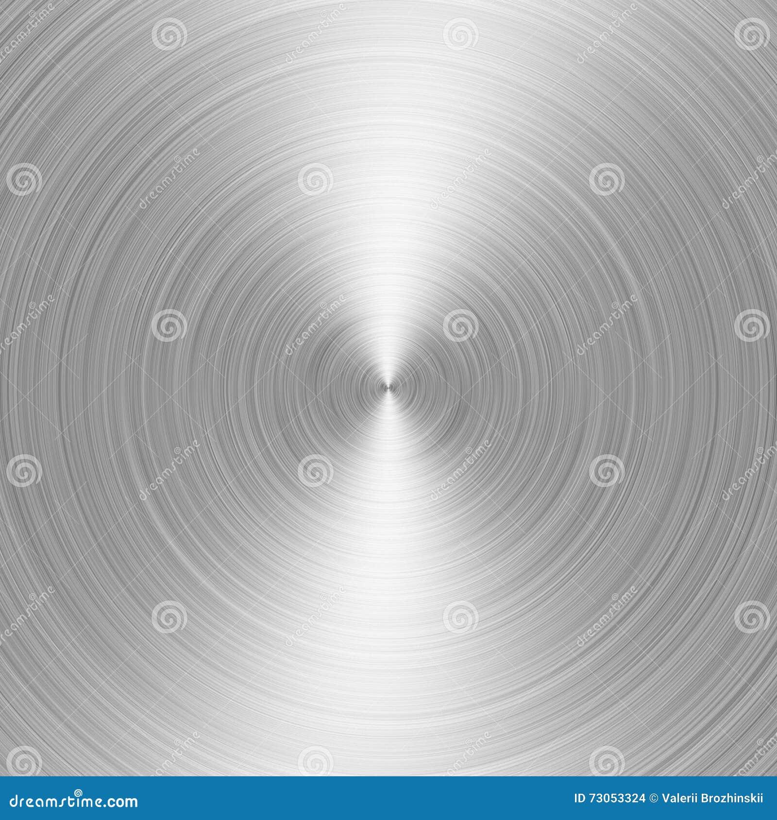 Geborsteld metaal: staal of aluminium cirkeltextuurachtergrond
