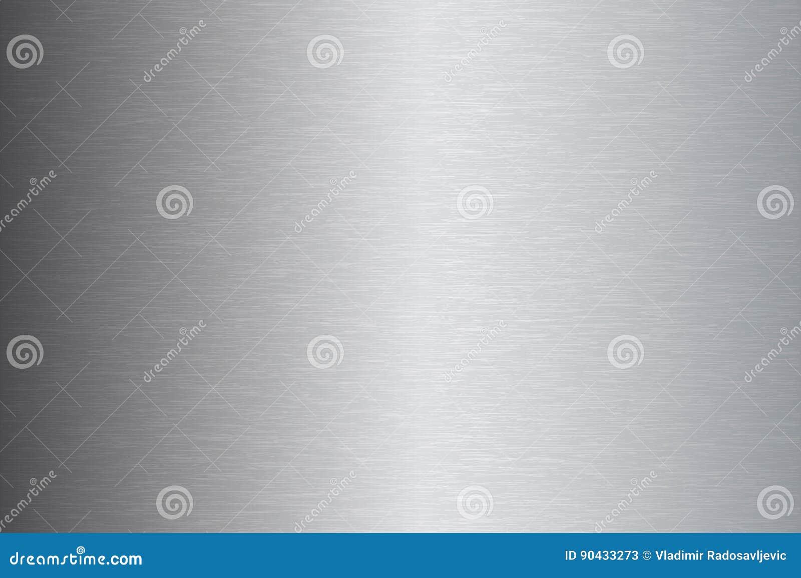 Geborstelde de textuur vectorillustratie van het metaalroestvrije staal