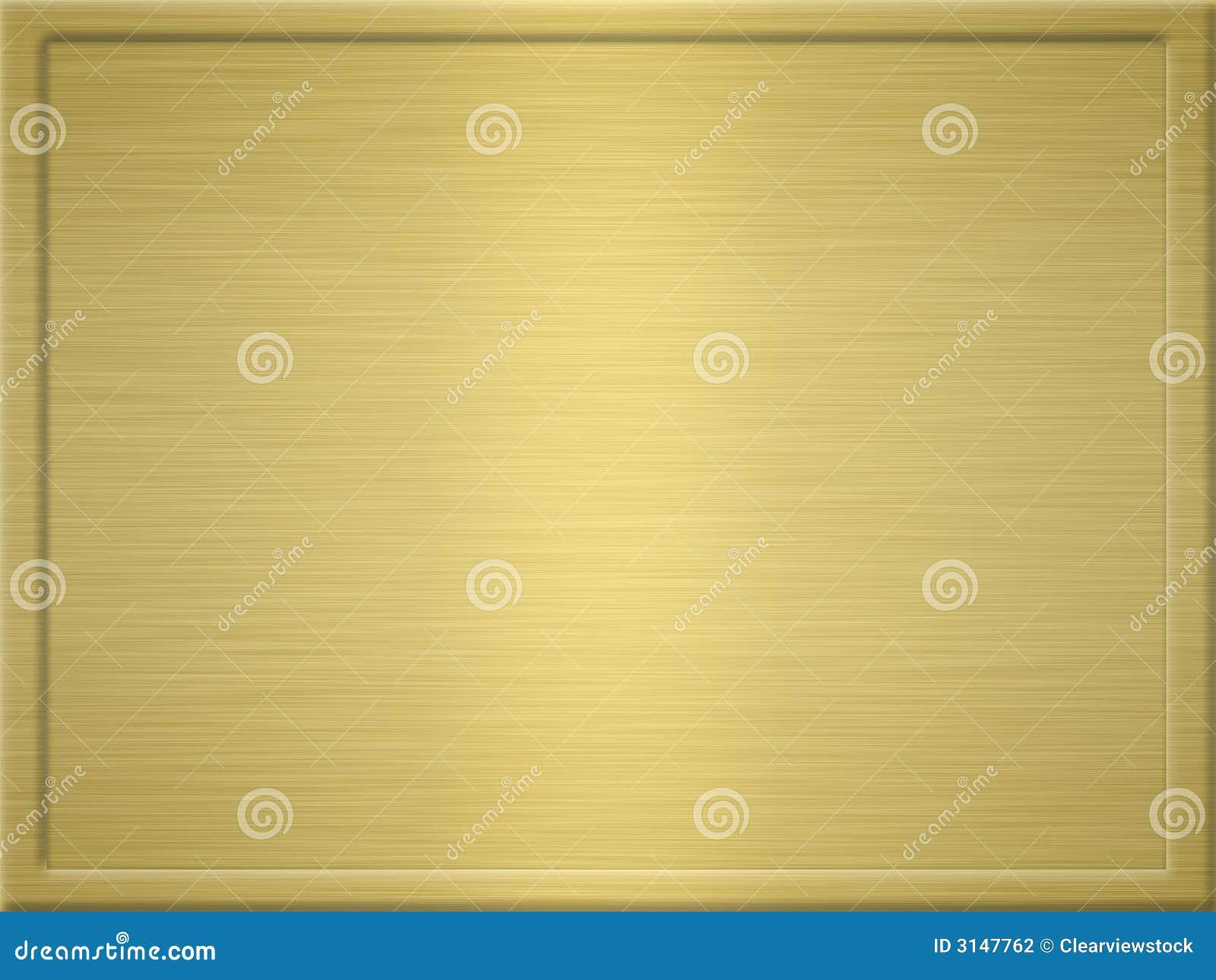 Geborstelde gouden metaalplaque