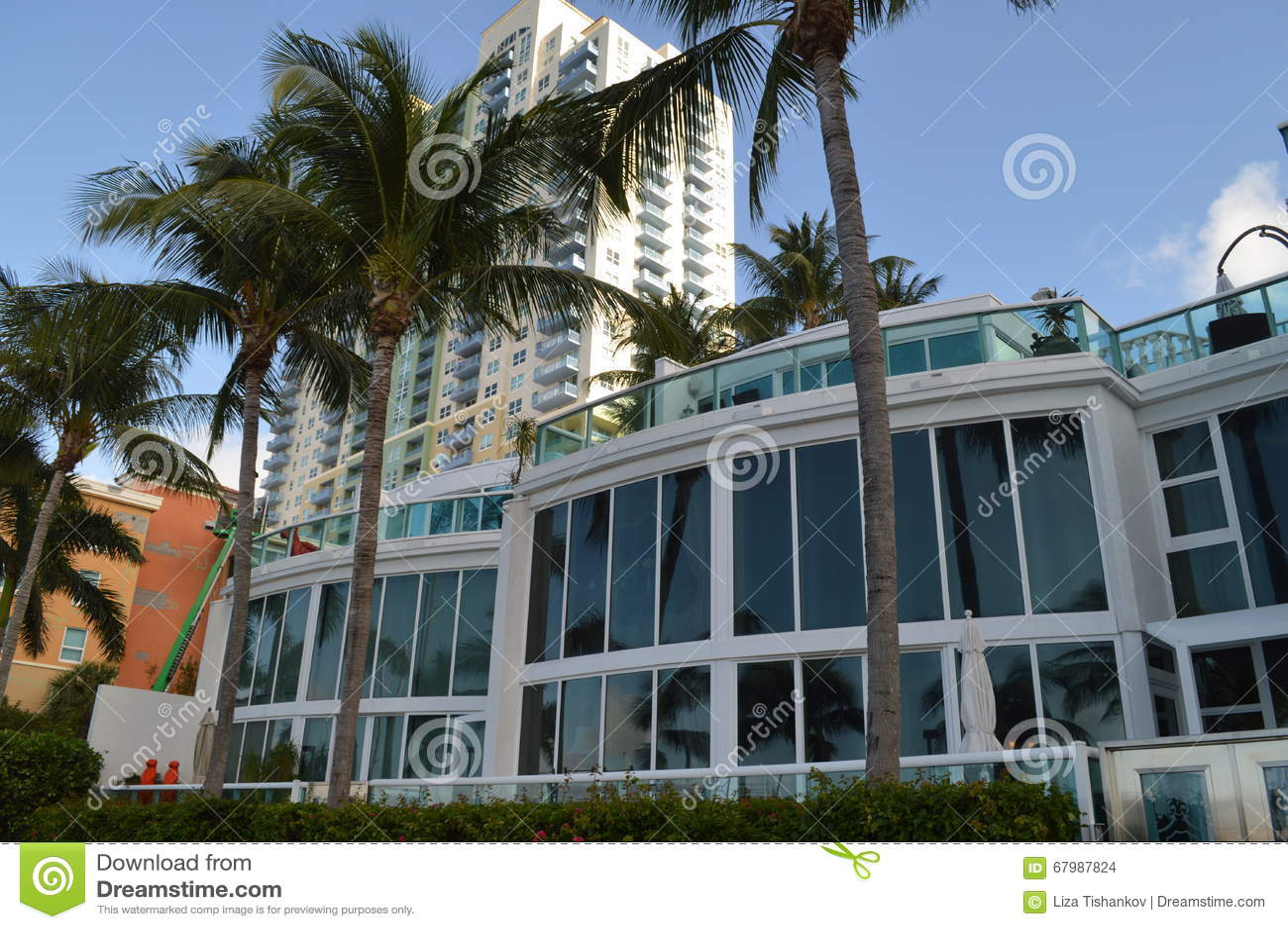 Gebouwen in Alton Road Miami Beach Florida