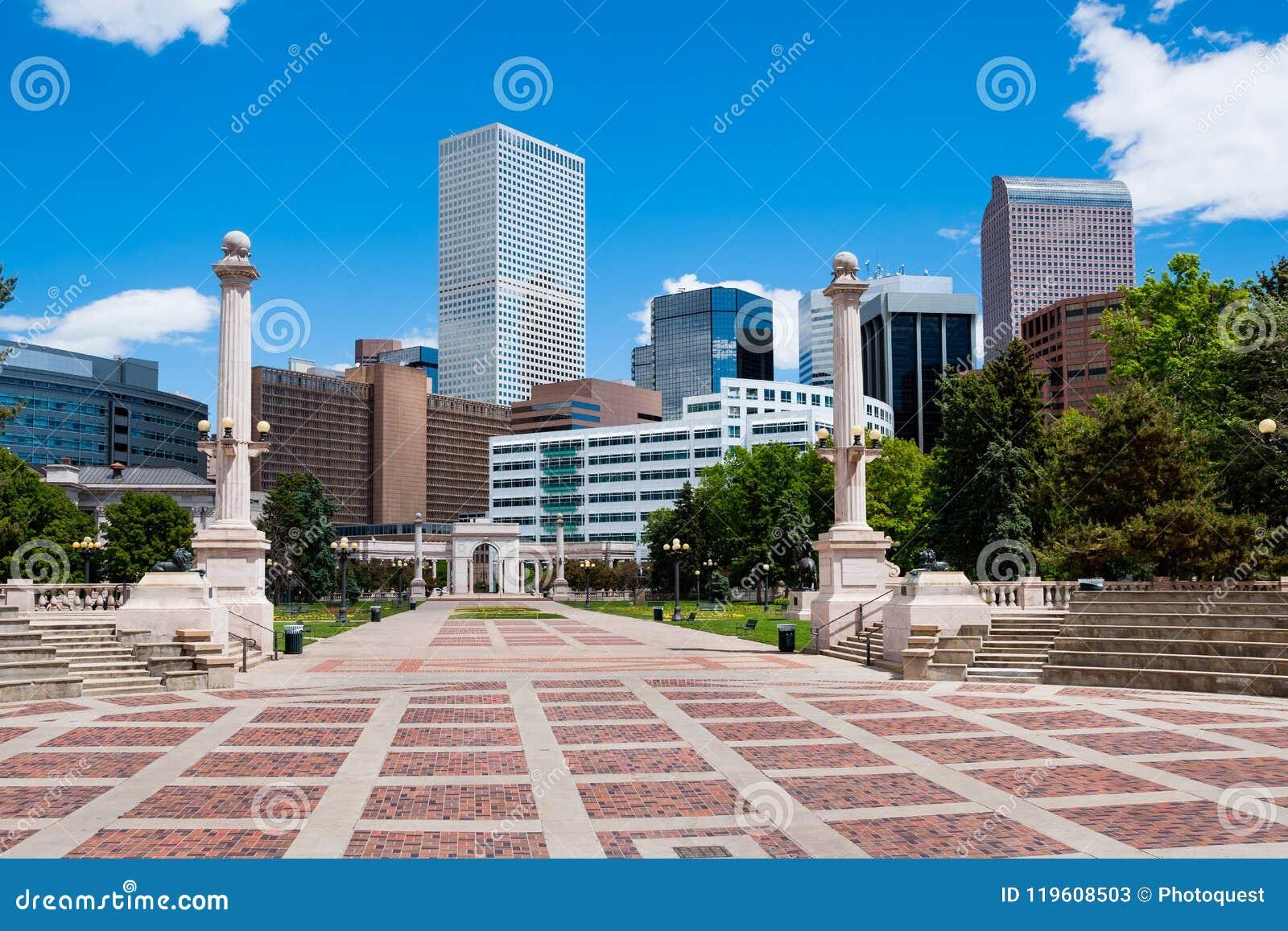 Gebouwen in Denver van de binnenstad