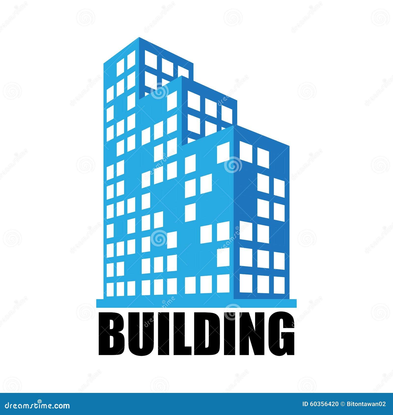 Gebouwen en bureaupictogram