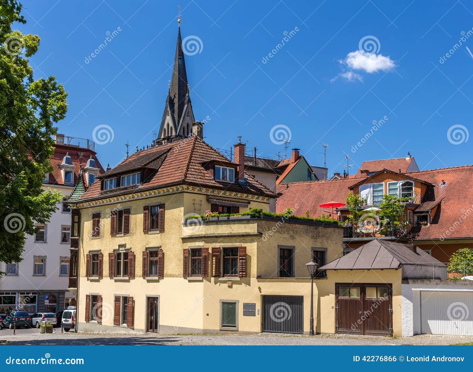 Gebouwen in het stadscentrum van Konstanz, Duitsland