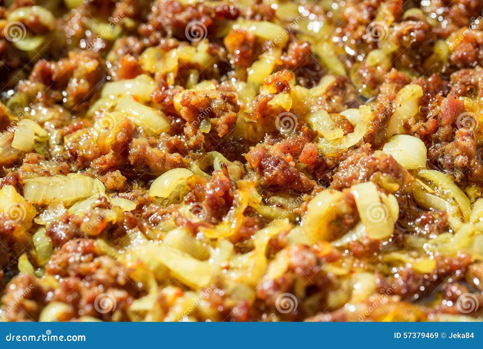 Gebraden fijngehakt rundvleesvlees