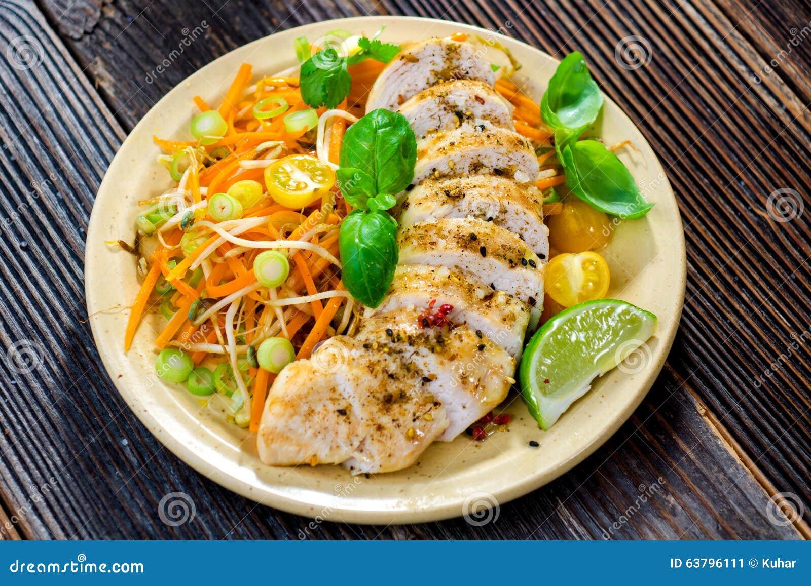 Hühnerbrust- und Gemüsediät