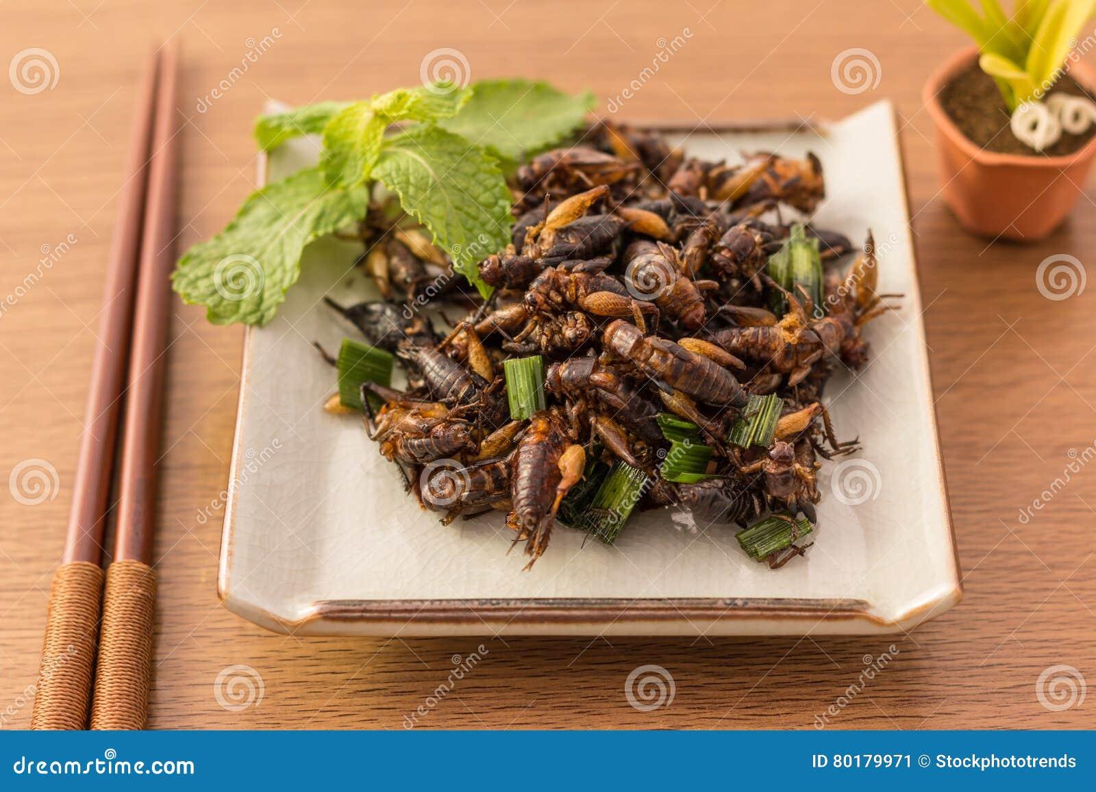 Gebratene Insekte