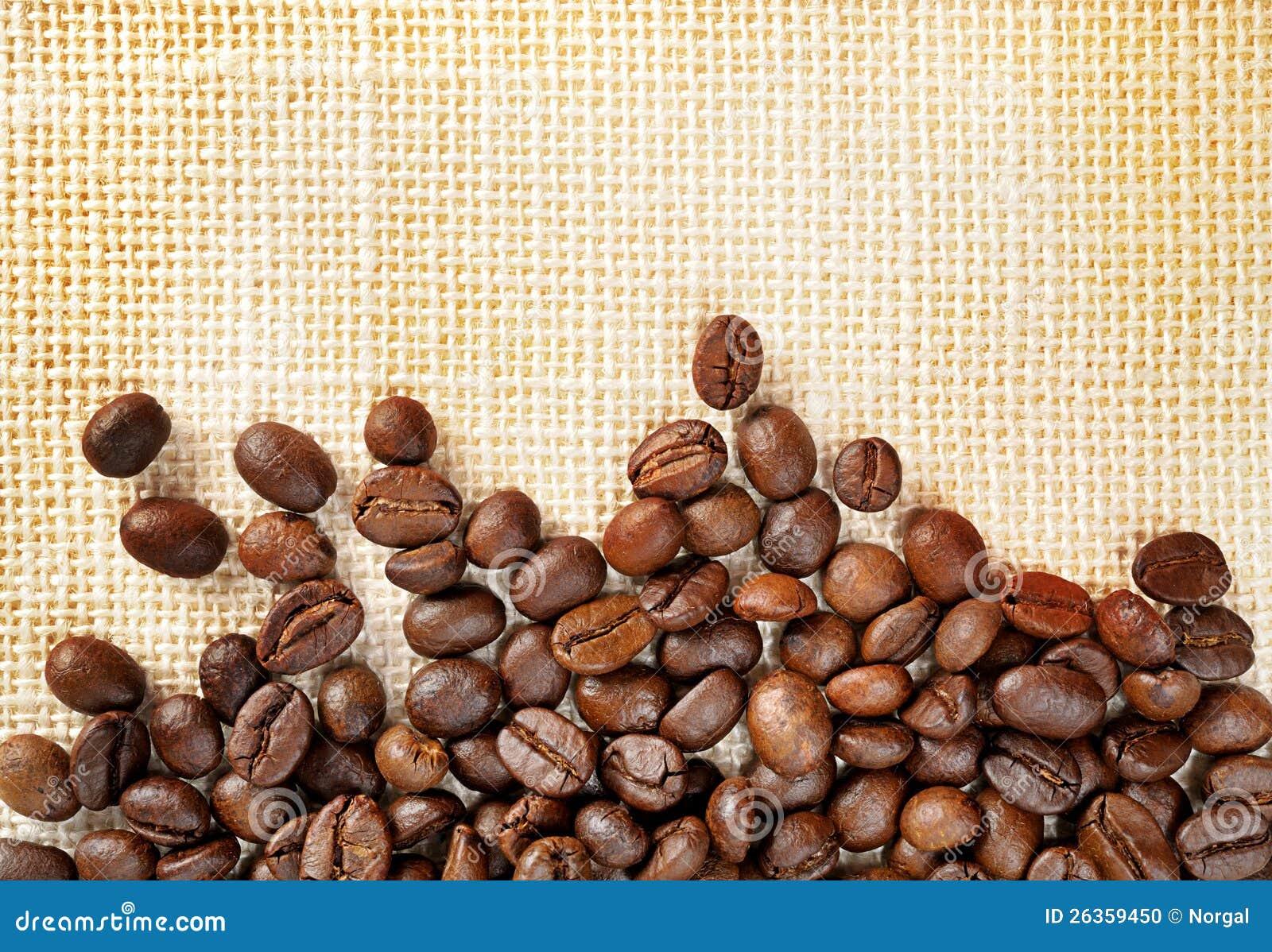 Gebratene Kaffeebohnen