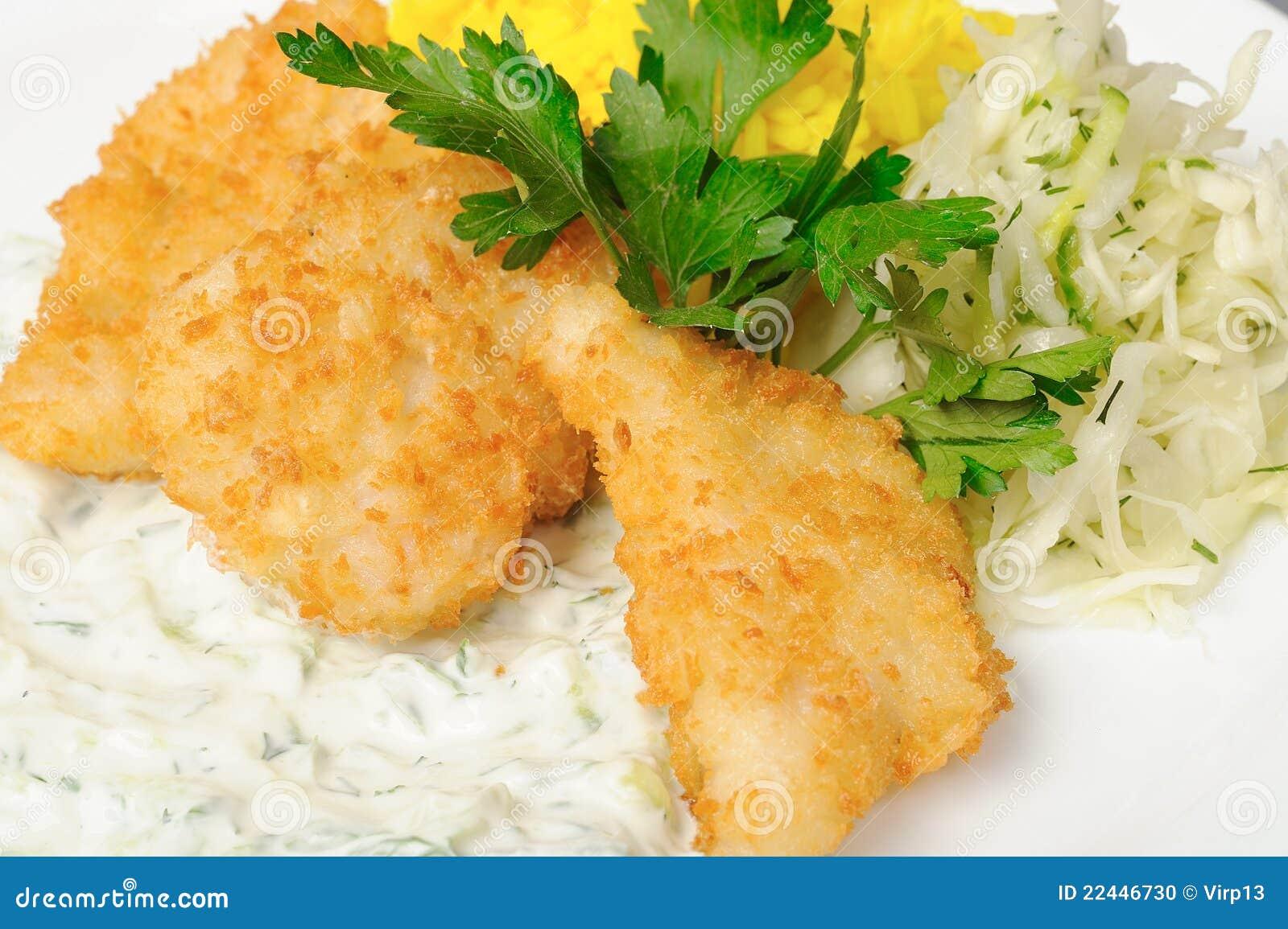 Gebratene knusperige Fische