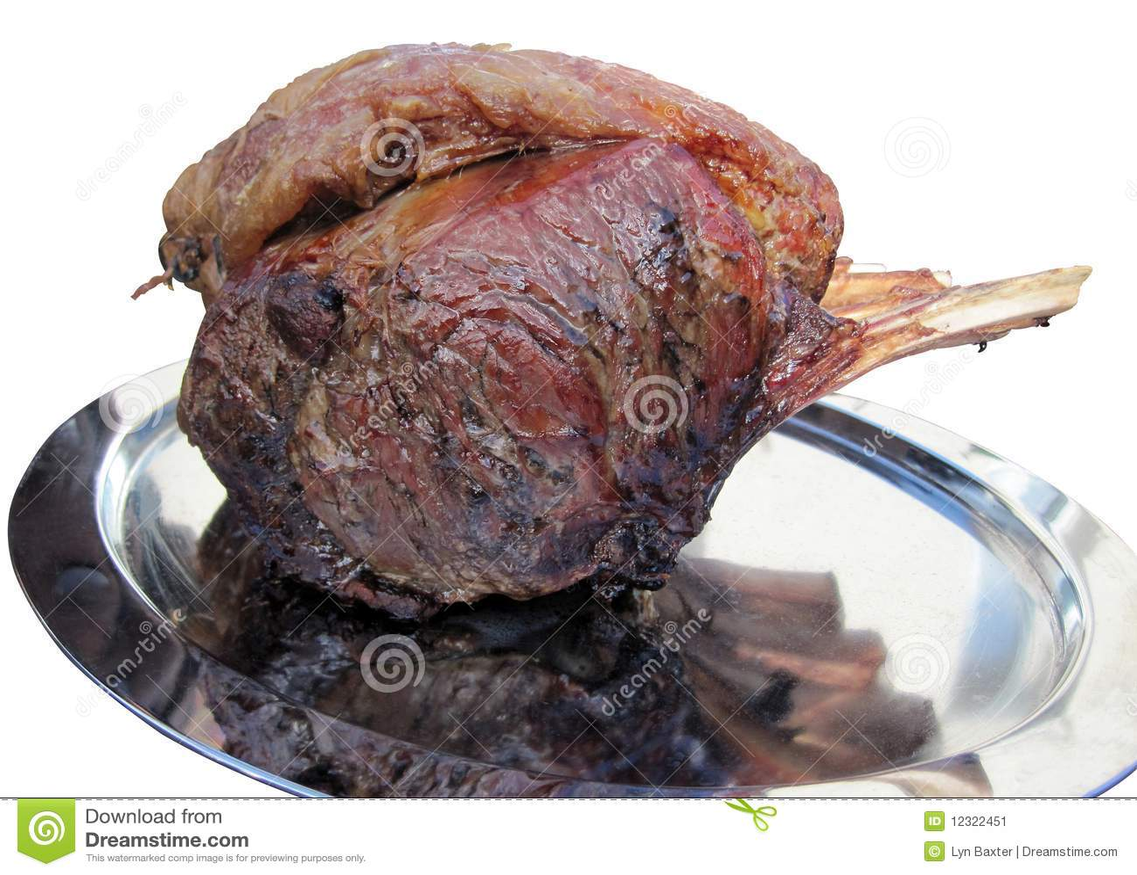 Gebratene Rippe des Rindfleisches