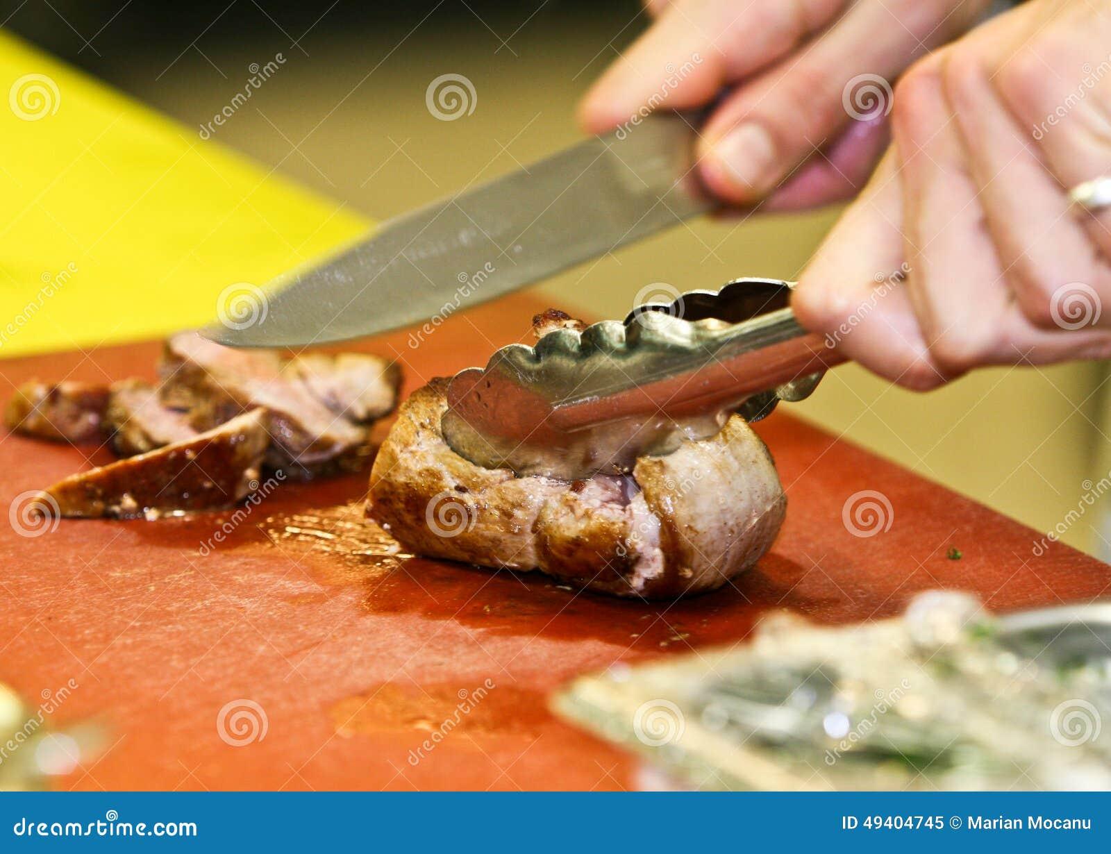 Download Gebratene Scheiben Der Schweinefleischverkleidung Stockbild - Bild von reif, nahrung: 49404745