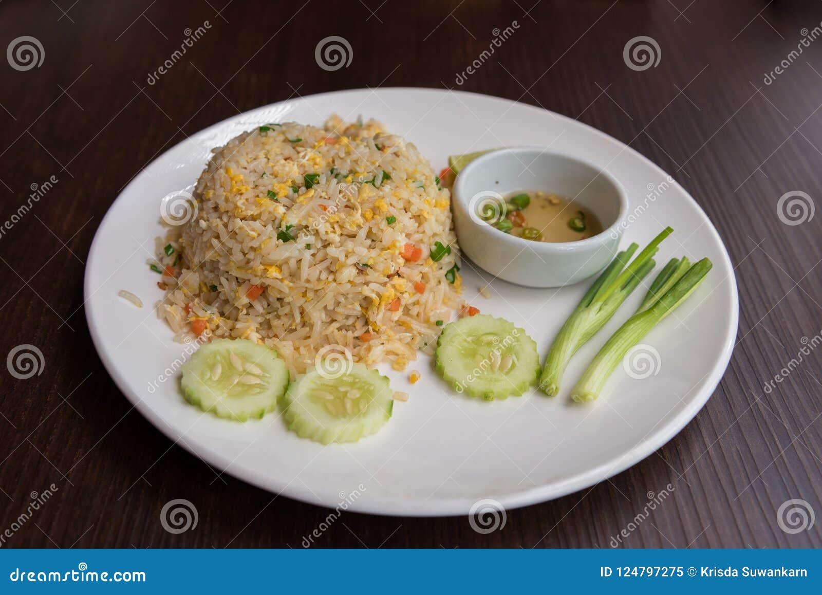 Gebratener Reis des Krabbenfleischs