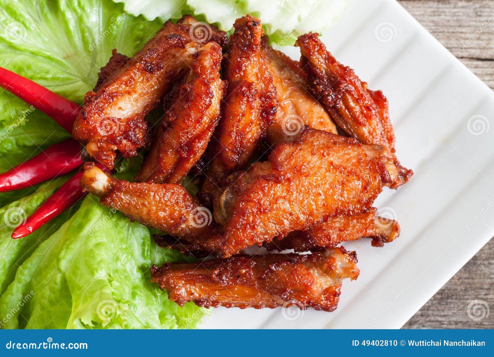 Download Gebratenes Hühnerflügel stockfoto. Bild von huhn, nahrung - 49402810
