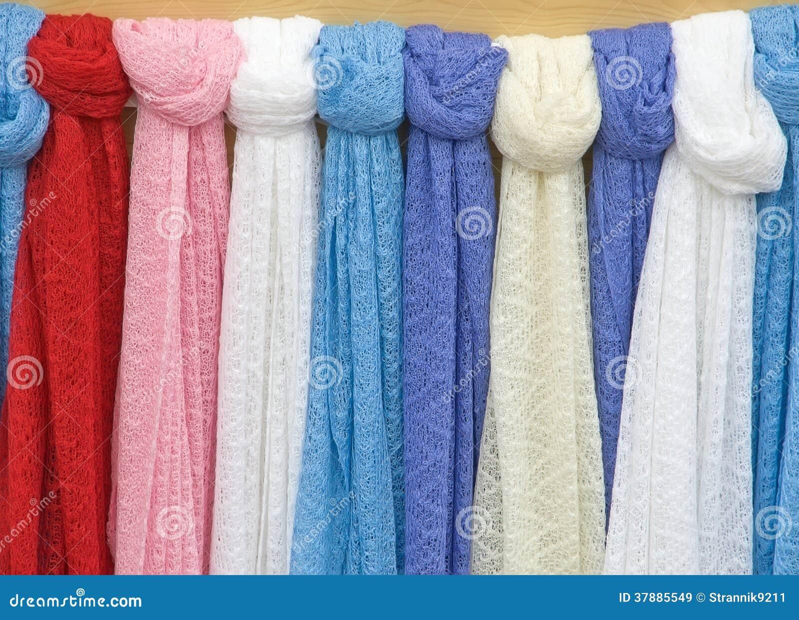 Gebreide sjaals.