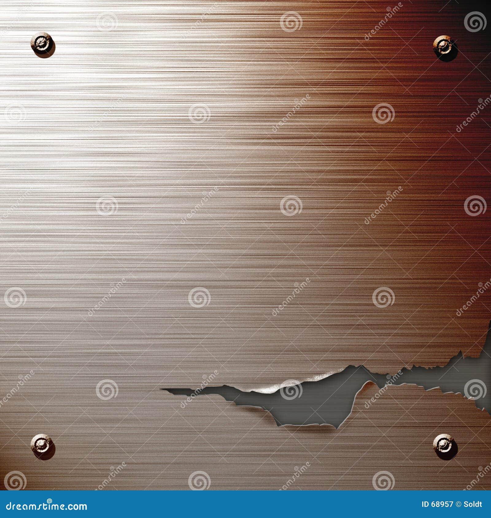Gebrochene Stahlplatte