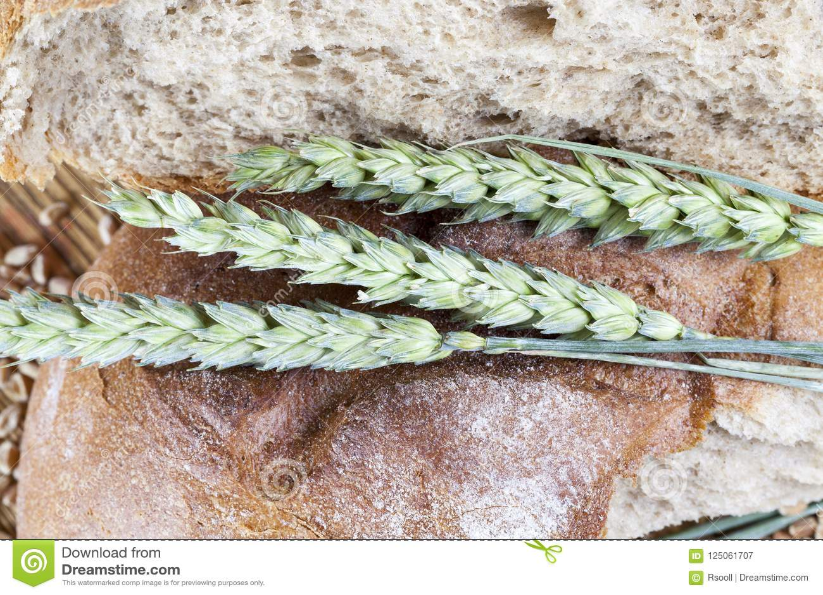 Gebroken brood van brood