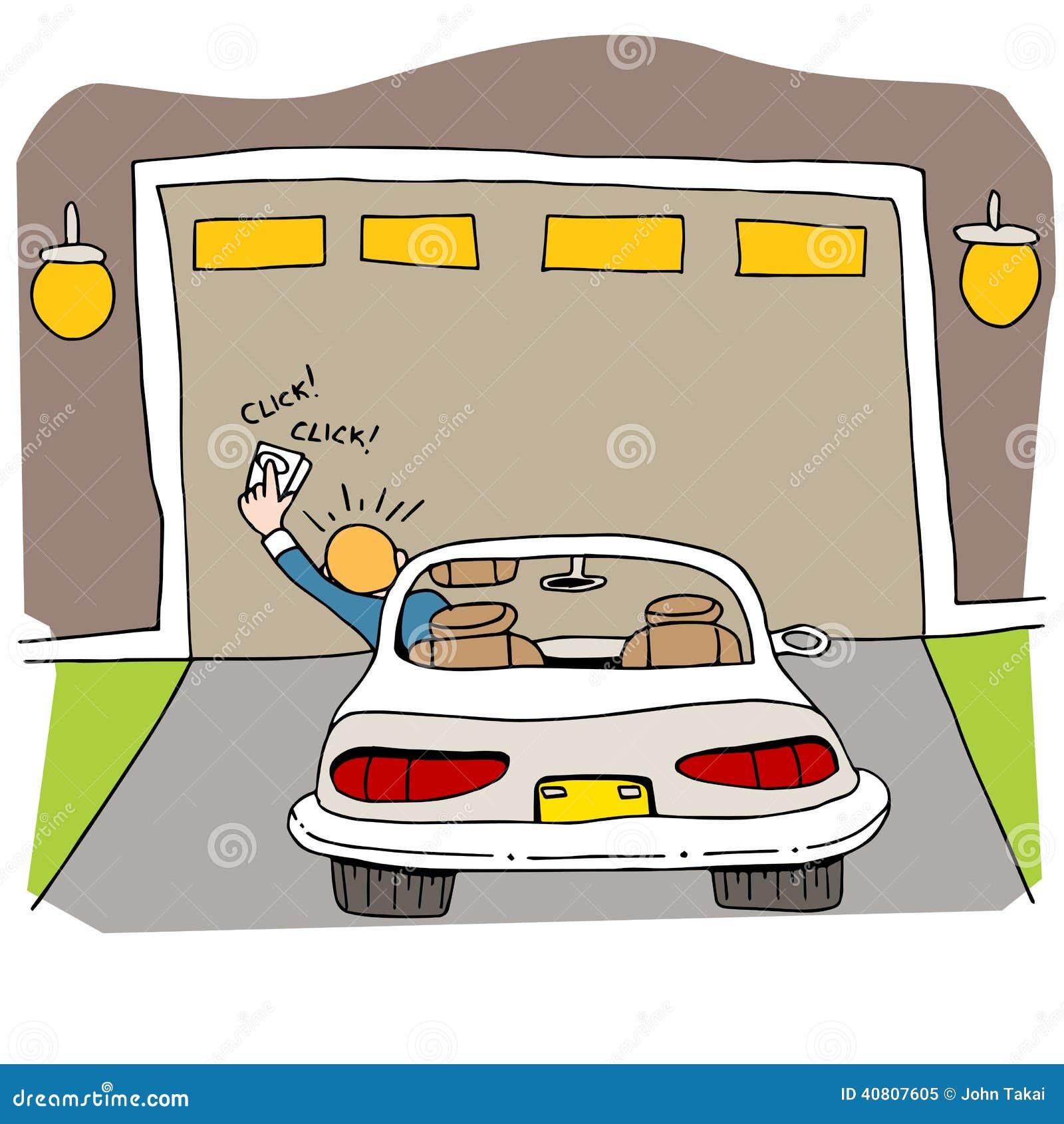 Gebroken Garagedeur Vector Illustratie Illustratie