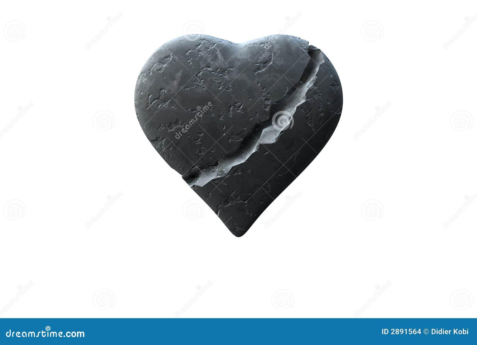Citaten Uit Een Hart Van Steen : Gebroken hart stock illustratie bestaande uit