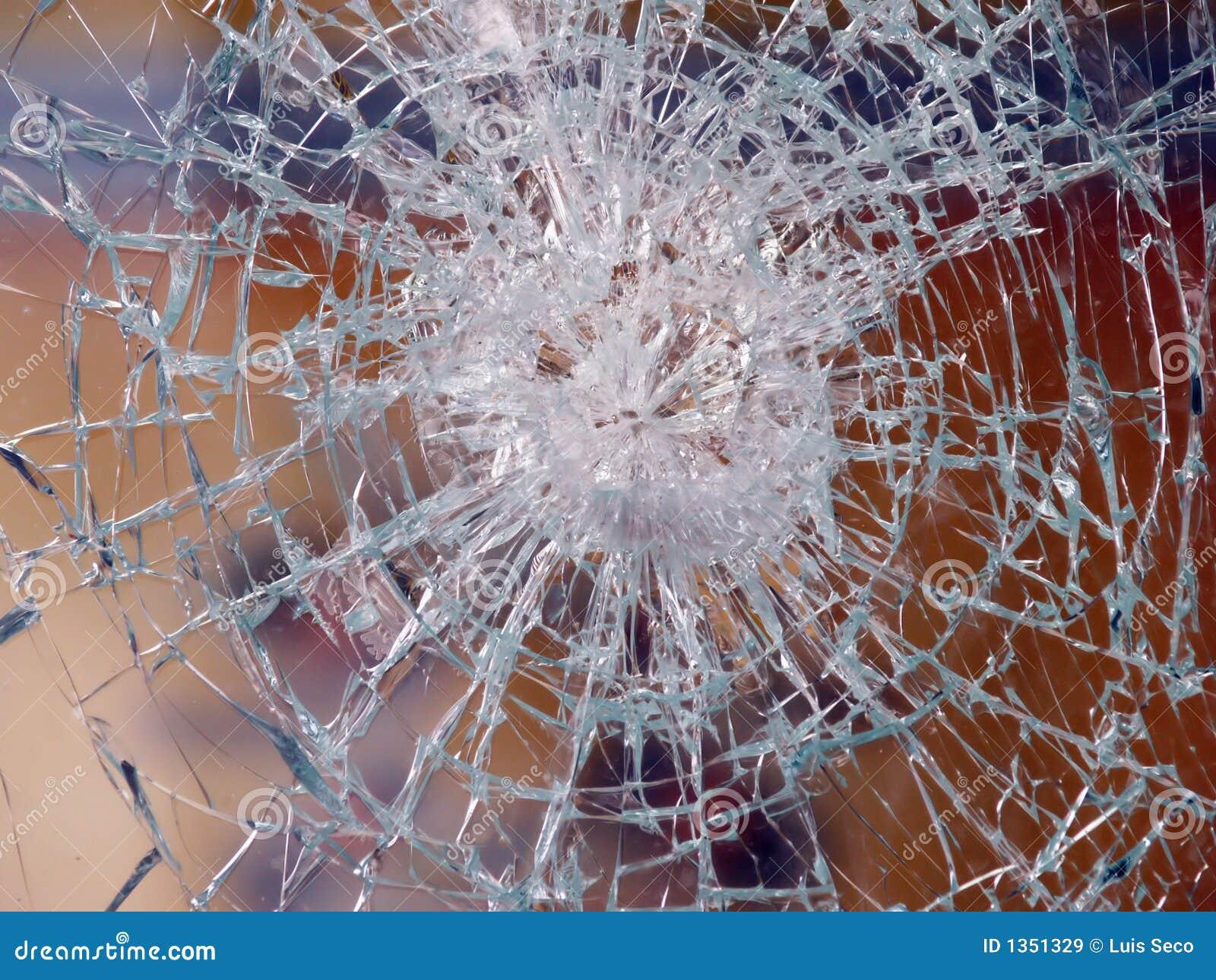 Favoriete Gebroken ruit van glas stock afbeelding. Afbeelding bestaande uit TS25